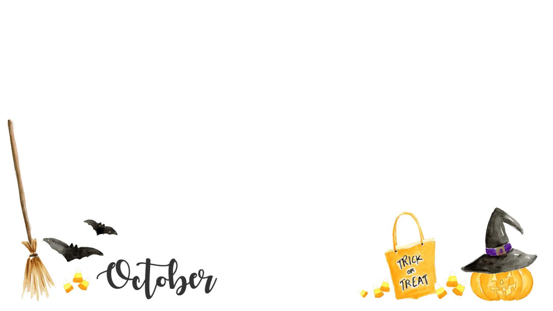 Freebie October Halloween Desktop Wallpaper